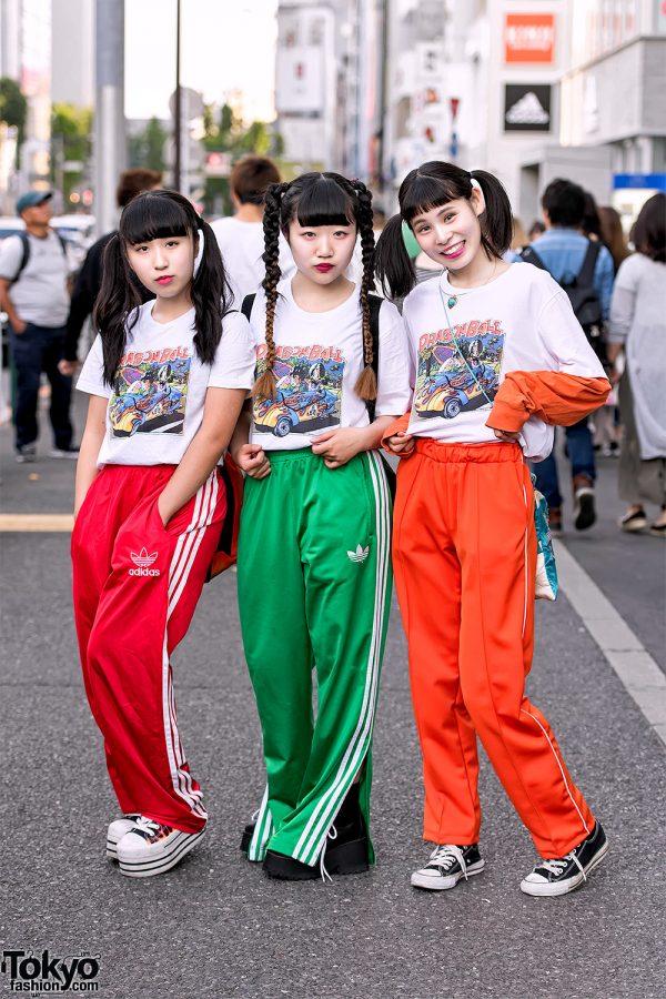 Dragon Ball Girls In Matching Harajuku Street Styles