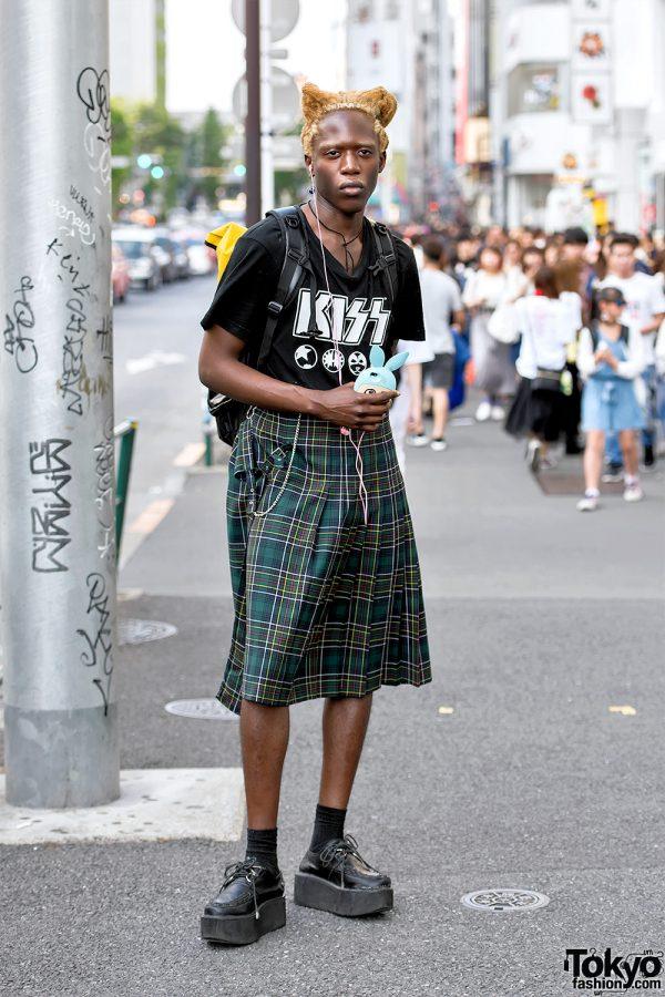 Male Fashion Model in Harajuku Wearing Vintage Jean Paul Gaultier