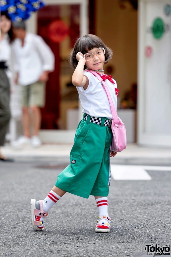 6-year-old Harajuku Street Style Icon Coco in Sailor Top, Comme Des Garcons, Fendi & Vans