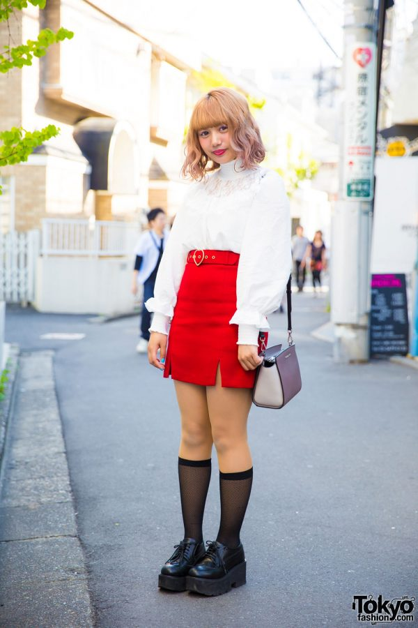 Harajuku Makeup Artist in Vintage Street Style w/ Vannie Tokyo, Bubbles & Michael Kors