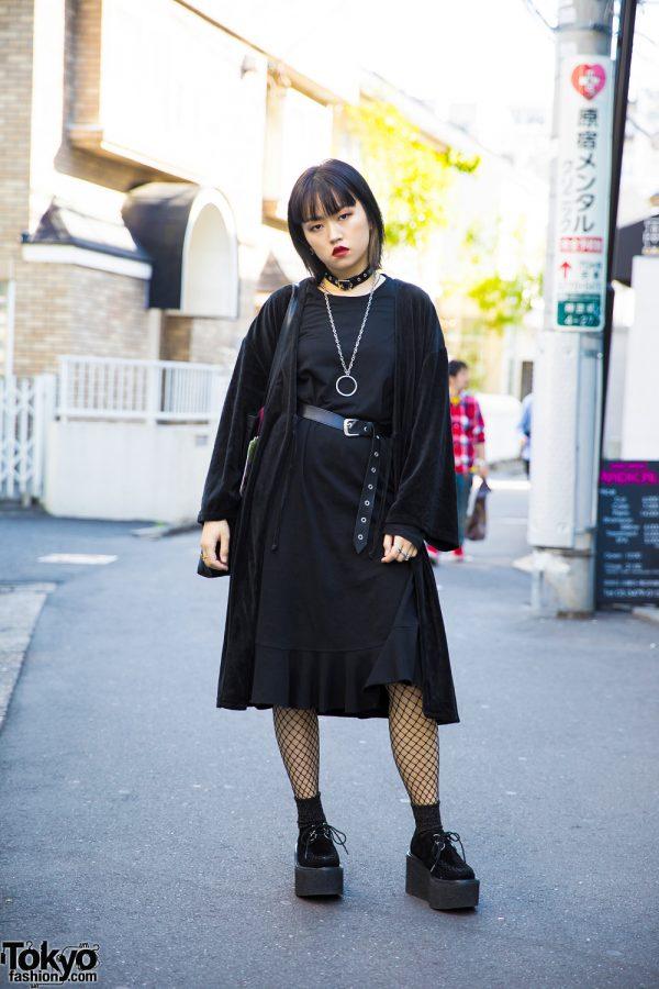 Dark Harajuku Street Style w/ Vintage Fashion, Merry Jenny & Zara