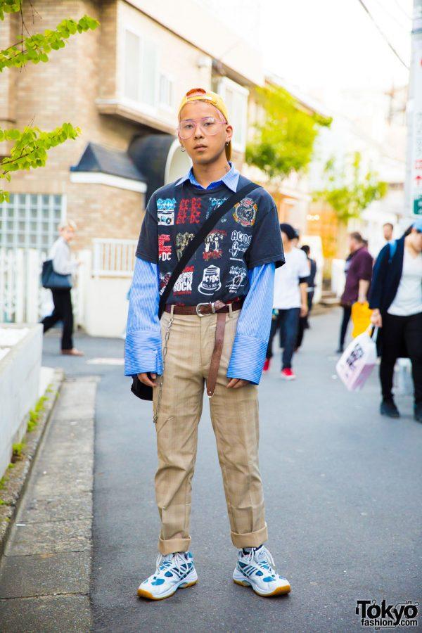 Harajuku Guy in Resale & Vintage Streetwear w/ Faith Tokyo Items