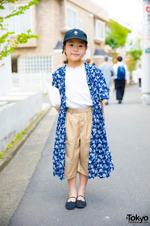 Harajuku 7-Year-Old's Chic Street Style w/ Global Work, Green Label, Snoopy & Shimamura