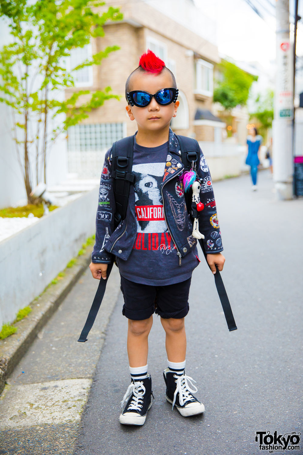 6-Year-Old Harajuku Kid w/ Mohawk in Patched Jacket ...
