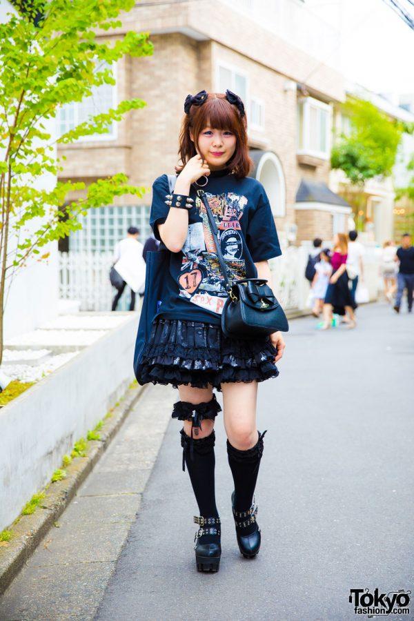 Harajuku Goth Girl in Sexy Dynamite London, Anglomania, Milk Boy, Yosuke, Hell Cat Punks & Baby The Stars Shine Bright