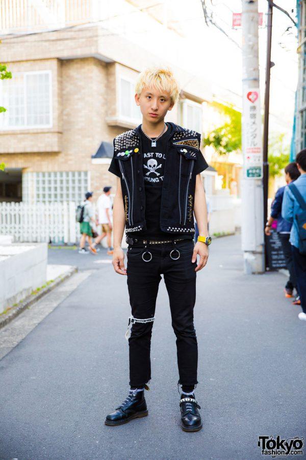 Harajuku Punk Wearing Studded Quot The Clash Quot Vest 666 Japan