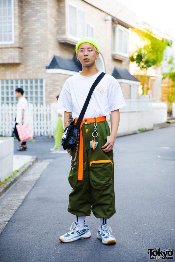 Harajuku Guy in Vintage Street Style w/ W&LT by Walter Van Beirendonck & Palace