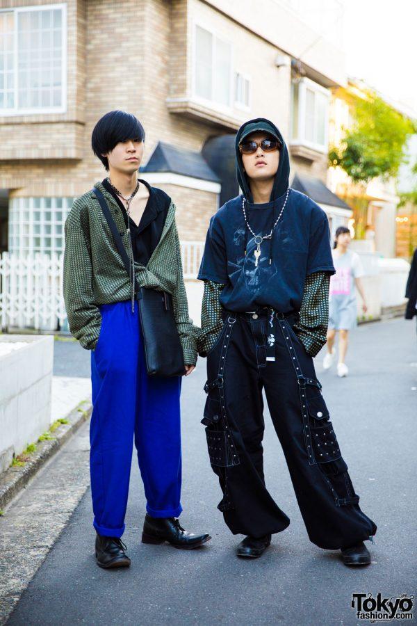Harajuku Guys in Edgy Streetwear Fashion w/ John Paul Gaultier, Dolce & Gabbana, L.T. Tokyo & Banny