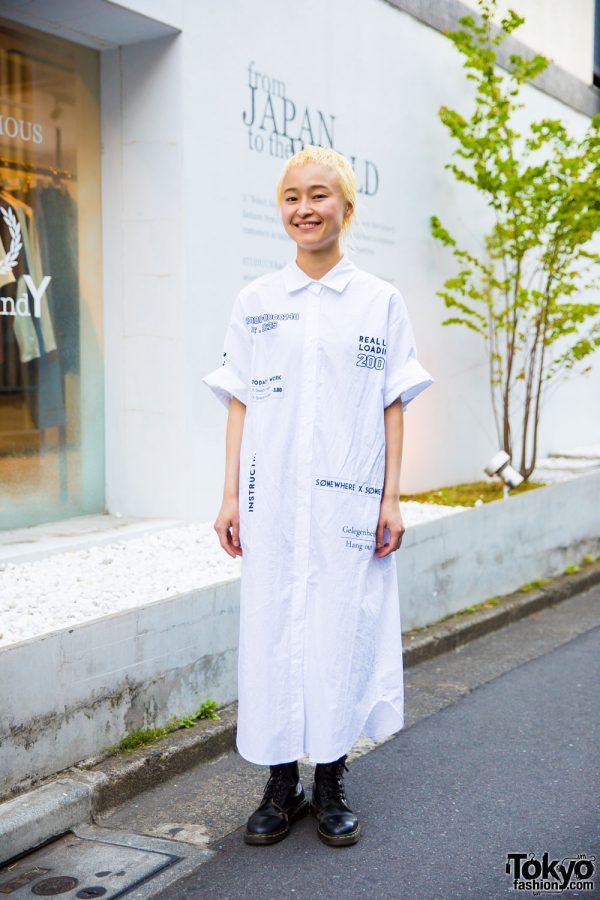 Minimalist Monochrome Harajuku Fashion w/ Style Nanda & Dr. Martens
