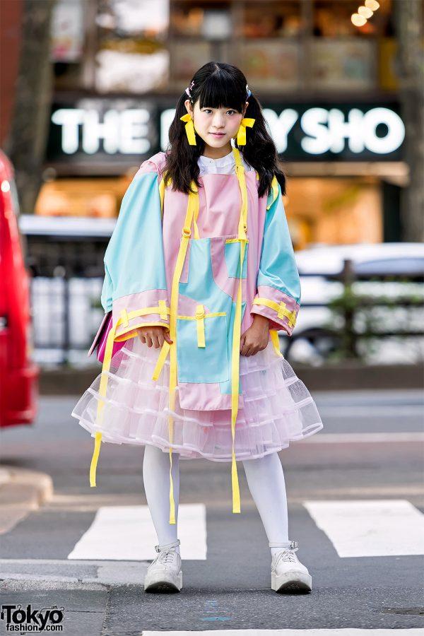 Harajuku Girl in Zetsukigu Pastel, Barrack Room, Tokyo Bopper & Betsey Johnson Telephone Purse