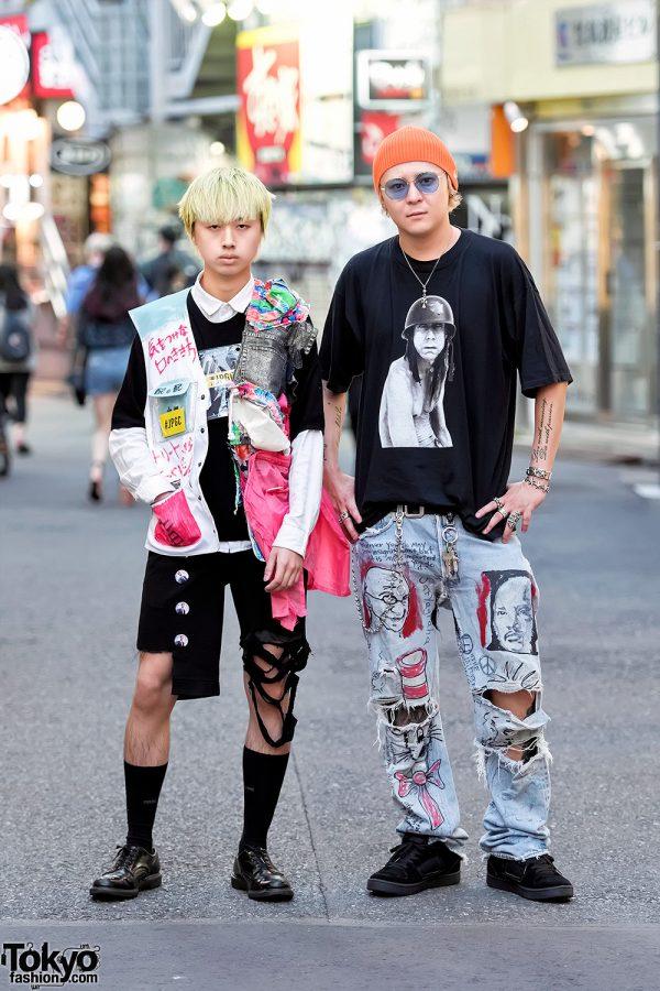 Dog Harajuku Street Styles w/ Vintage & Remake Fashion, Destroyed Denim & Vans
