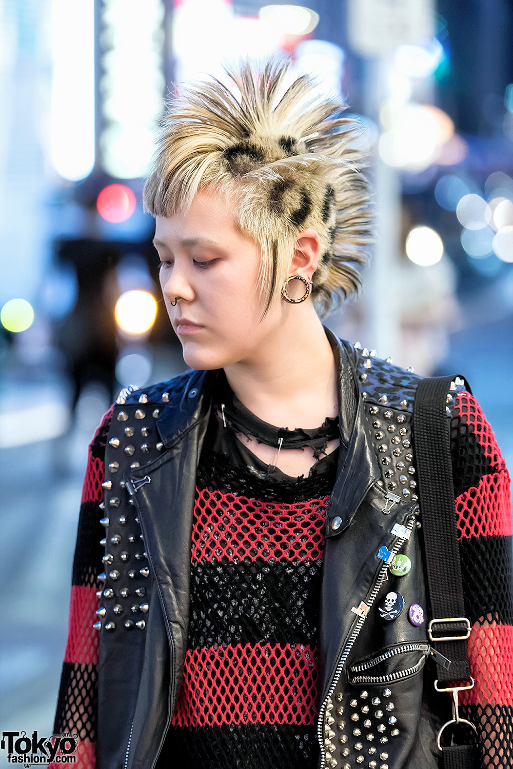 Harajuku Punk In Discocks Studded Leather Vest Patched