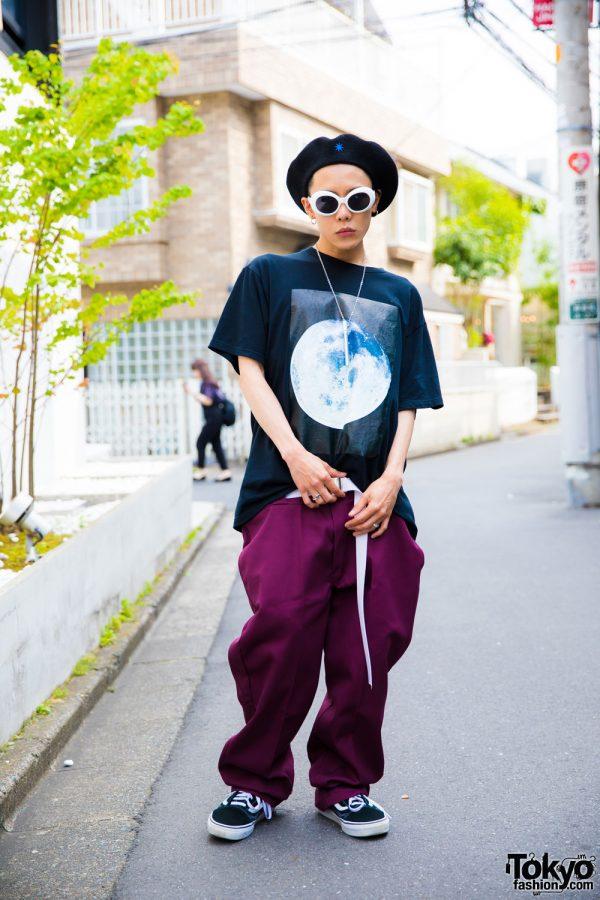 The Symbolic Tokyo Streetwear Designer in Harajuku w/ Bit Moon Near, 99%IS-, Chrome Hearts & Dickies