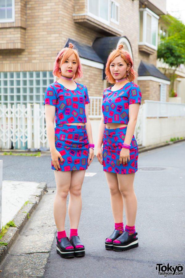 Japanese Pair Look Street Styles in Harajuku w/ Galaxxxy & Rasvoa
