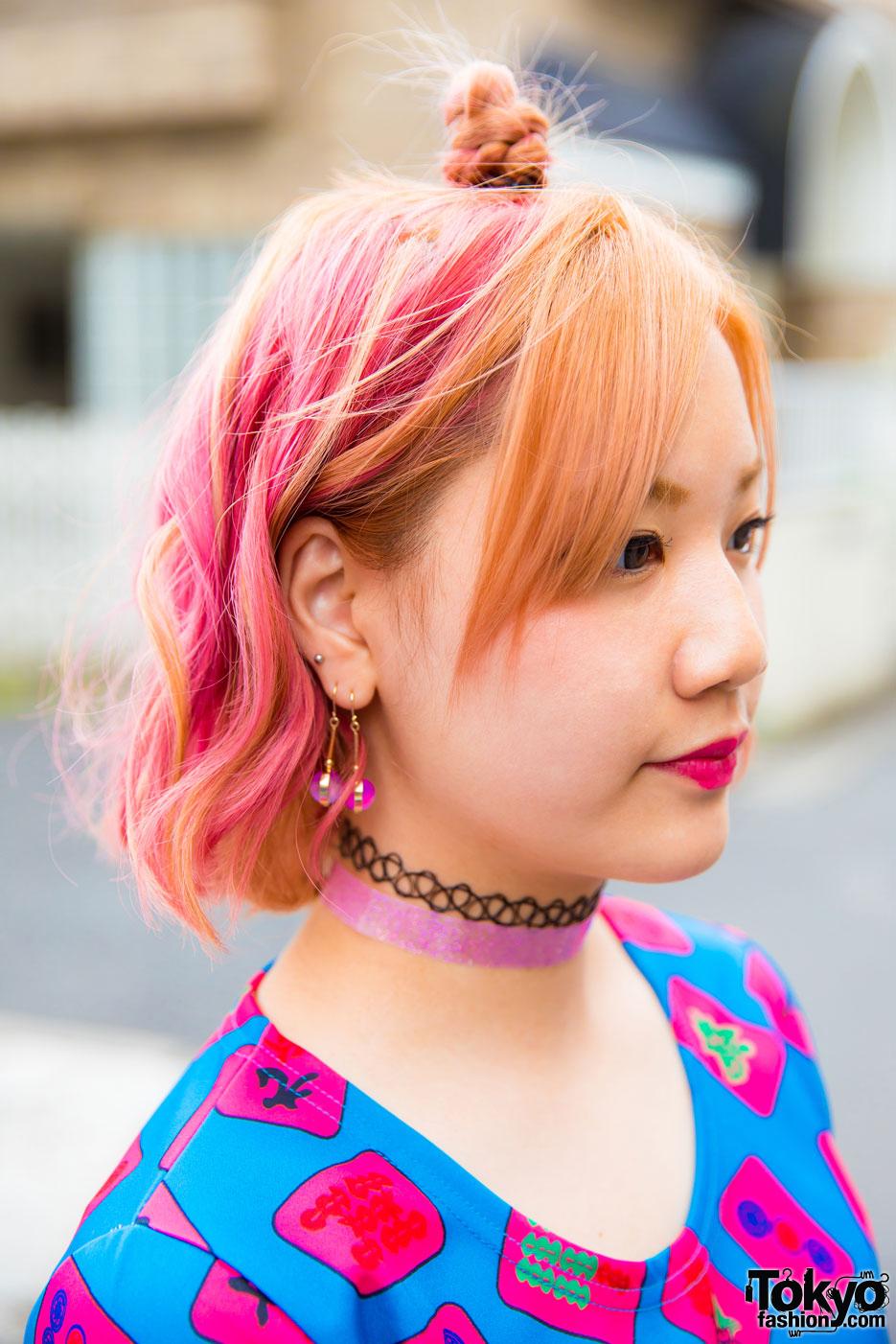 Japanese Pair Look Street Styles In Harajuku W Galaxxxy