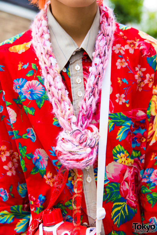 Harajuku Guy In Floral Print Amp Ombre Street Style W Kinji