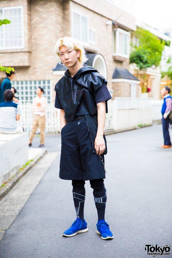 Harajuku Streetwear Style w/ Danke Schon Sleeveless Hoodie, Y-3 & Walter Van Beirendonck