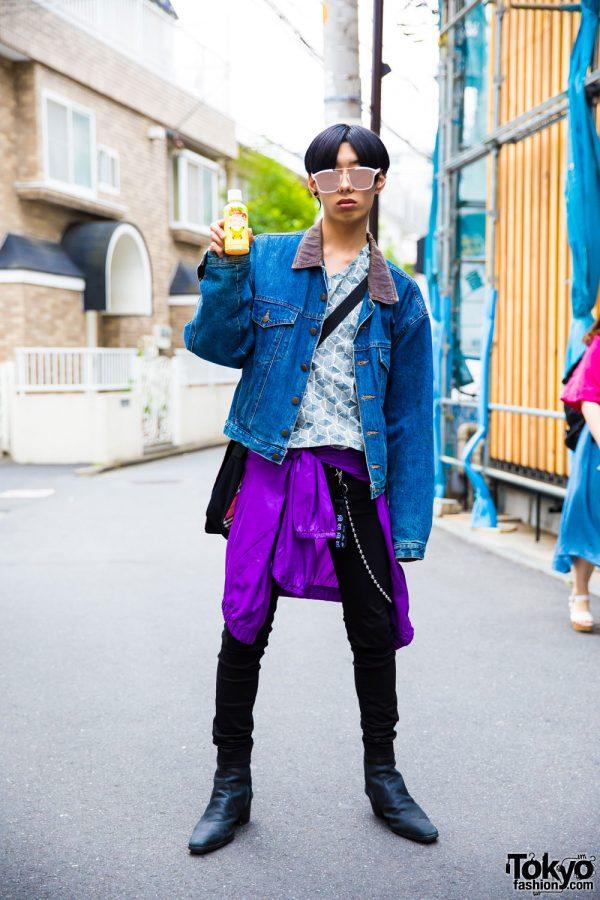 Harajuku Student in Street Wear by Kenzo, Kobinai, UNIQLO, Yosuke & Burberry