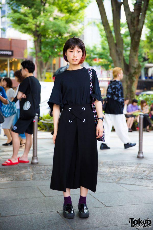 Harajuku Girl in Minimalist Fashion w/ Toga Pulla, Le Ciel Bleu, Opening Ceremony & Vans