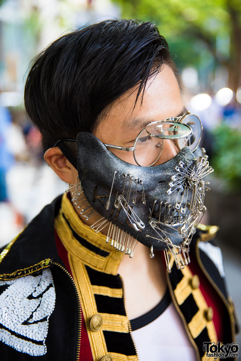 Eclectic Tokyo Street Style Including Metal Face Mask Dog