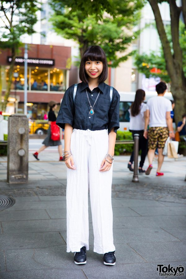 Black & White Minimalist Harajuku Resale Street Style w/ Zara & Nike