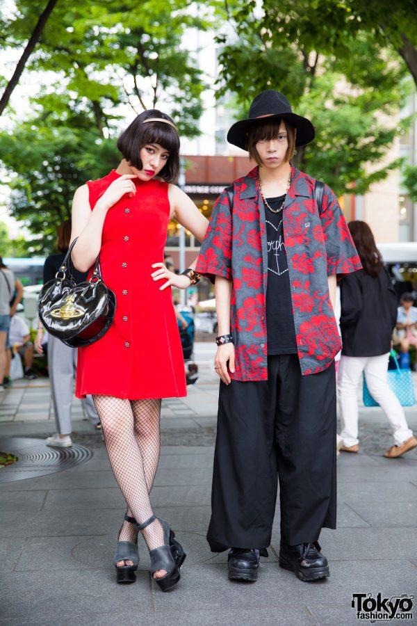 Red & Black Harajuku Street Styles w/ Jeffrey Campbell, Vivienne Westwood, Morph8ne & Comme des Garcons Homme Plus