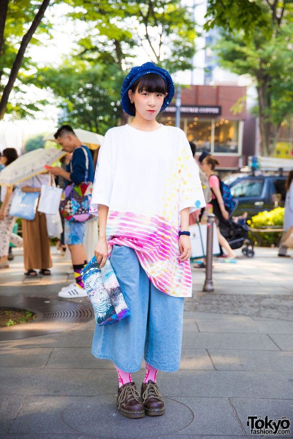 Harajuku Girl in Oversized Street Style w/ Nisai, Dr. Martens & Vintage Fashion