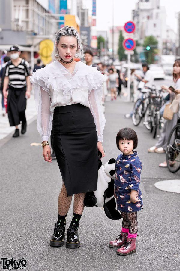 Harajuku Designer & Daughter Wearing The Ivy Tokyo, Kenzo & Dr. Martens