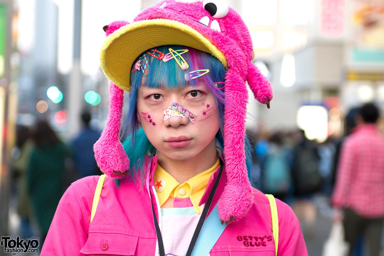 Junnyan's Pink Kawaii Harajuku Street Style W/ Monster Hat