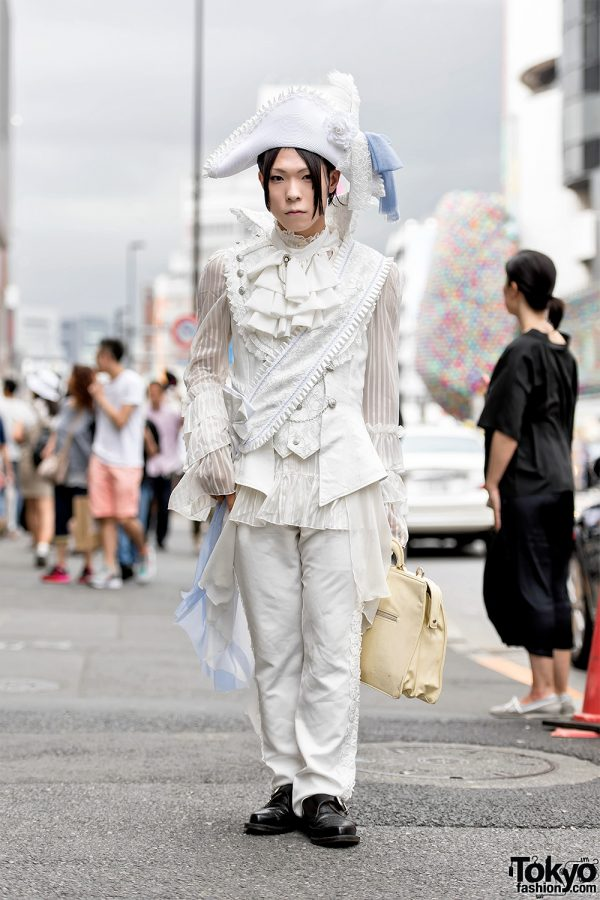 White Pirate Inspired Fashion by Japanese Brand Alice and The Pirates in Harajuku