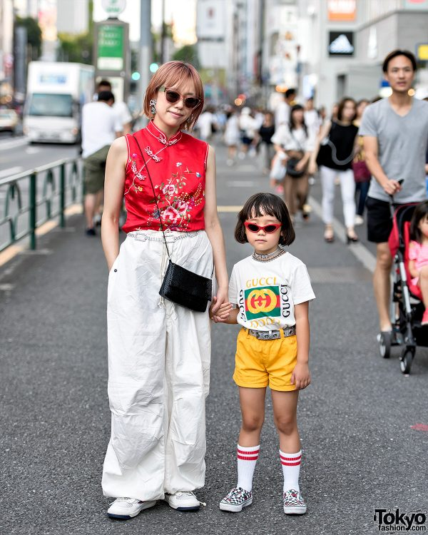 6-year-old Coco Princess & Her Mom in Harajuku w/ Funktique Tokyo, Gucci & Vans