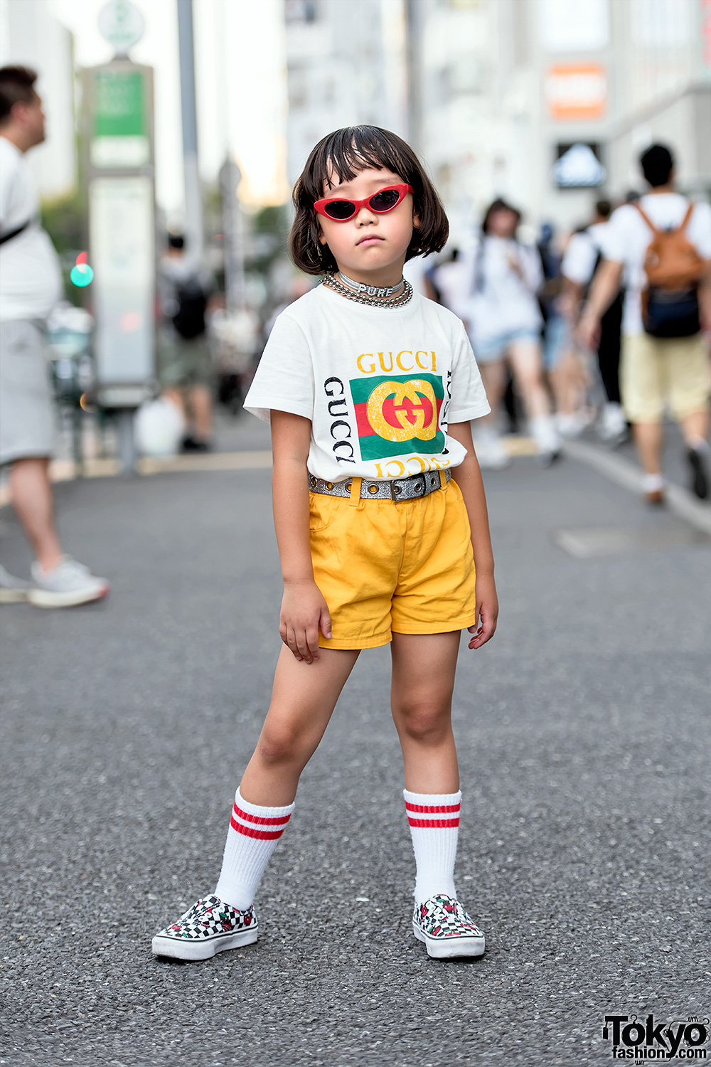 6 Year Old Coco Princess Her Mom In Harajuku W Funktique Tokyo Gucci Vans