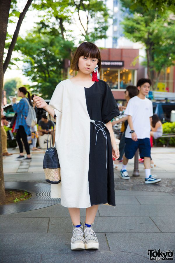 Harajuku Monochrome Street Fashion w/ Nusumigui, Tokyo Bopper, Nakamura Coubou & Peg Meg Cosmo Statement Eye Earring