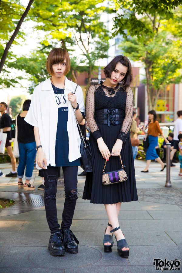 Monochrome Harajuku Street Styles w/ Gucci, Chanel, Vivienne Westwood, WHEIR Bobson, UNIF & Jeffrey Campbell
