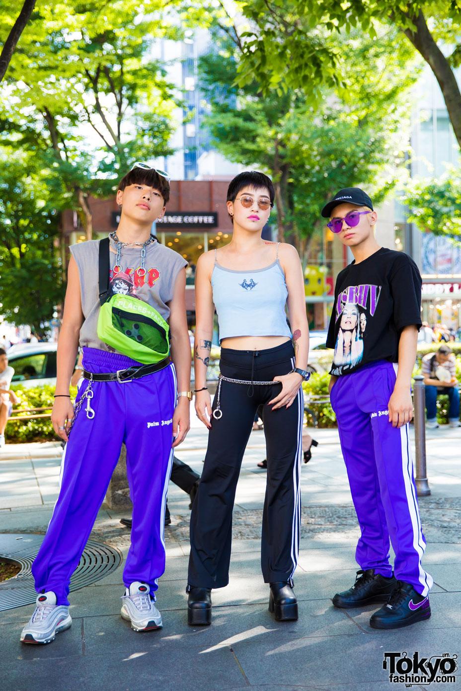 Harajuku Trio In Sporty Streetwear W Faith Tokyo Palm