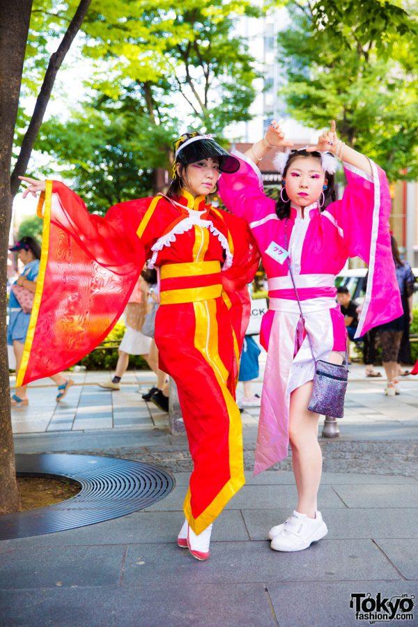 Kekenoko Girls in Harajuku w/ Colorful Takenoko Zoku Inspired Fashion From Boutique Takenoko