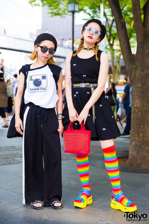 Monochrome x Rainbow Harajuku Street Styles w/ Lazy Oaf, Glitter Candy, Amijed, Cub Run, Oh Pearl & Yosuke