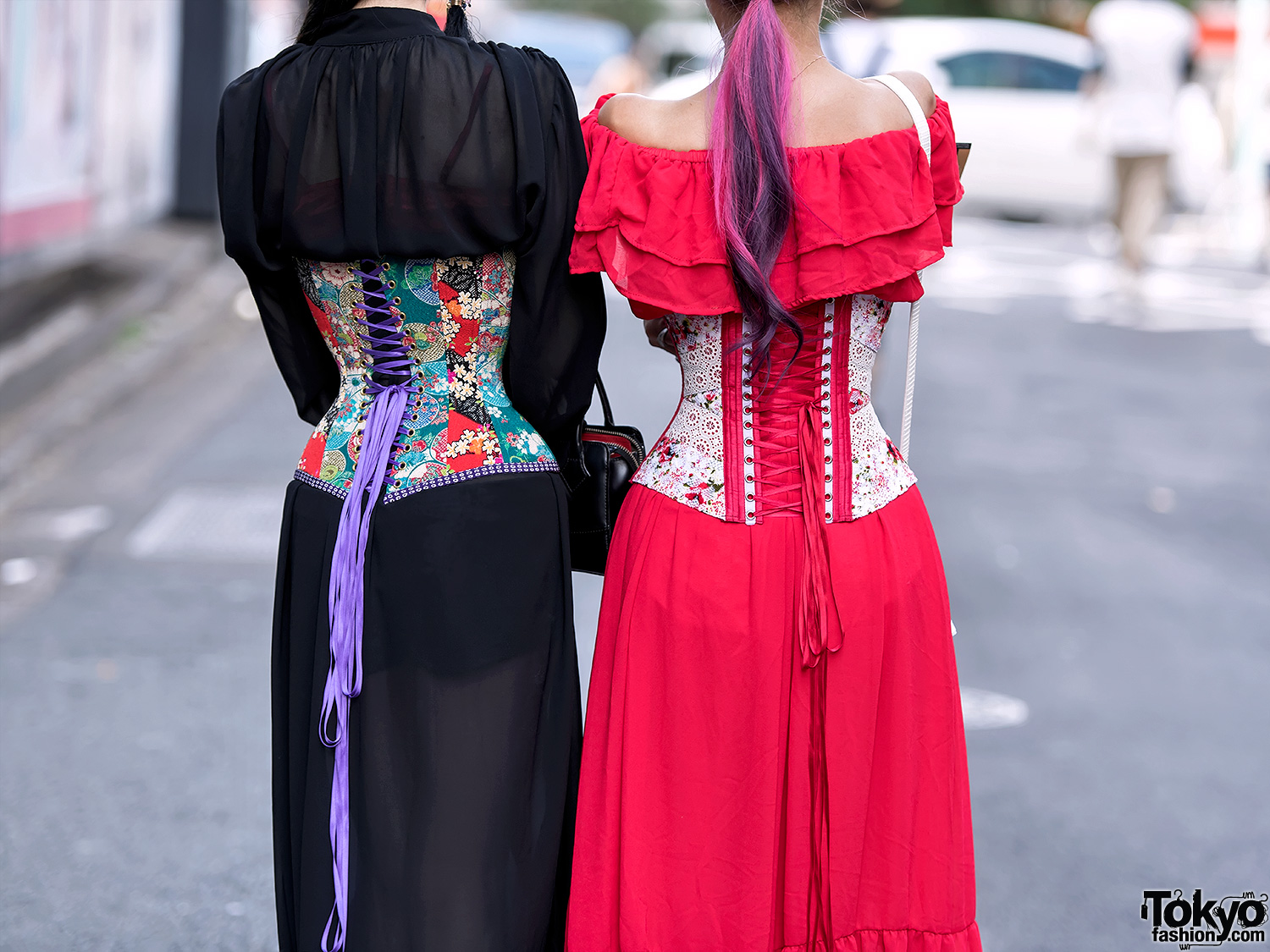 Handmade Japanese Corsets by Unisex Peanuts on the Street in Harajuku