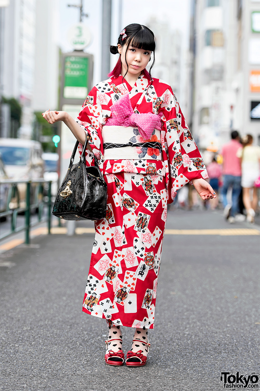 Harajuku Girl In Pretty Yukata Vintage Obi Vivienne
