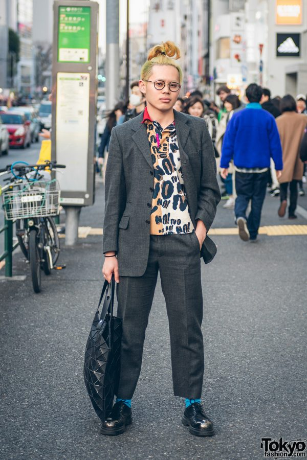 Paul Smith Men's Suit, Tigran Avetisyan, Issey Miyake & Dr. Martens in Harajuku