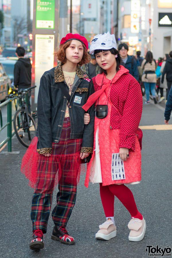 Harajuku Girls in Red Street Fashion w/ Mikio Sakabe, Punk Cake, Pink House, Tokyo Bopper & Jenny Fax