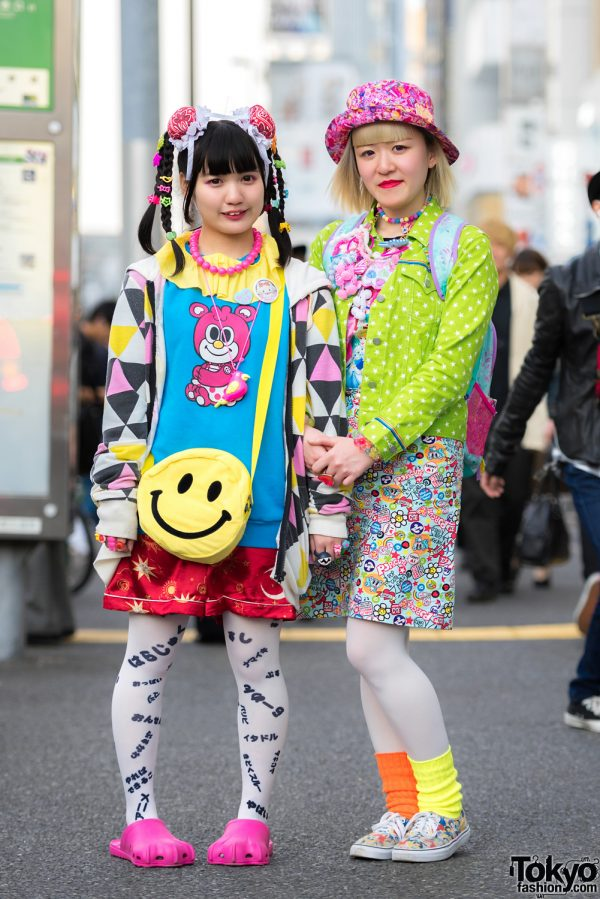 Japanese Decora Fashion in Harajuku w/ 6%DOKIDOKI, 2.5 Spinns, Romantic Standard, Swimmer, Daisy Lovers, Angel Blue