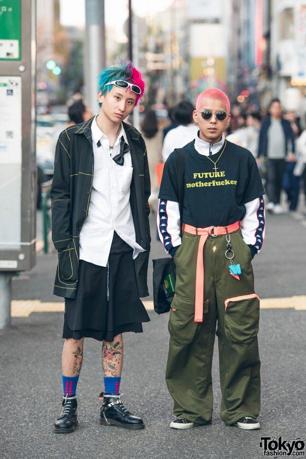 Punk Street Styles in Harajuku w/ Comme des Garcons, Converse, Dr. Martens, BDKMV Tokyo, Kappa & Walter Van Beiredonck