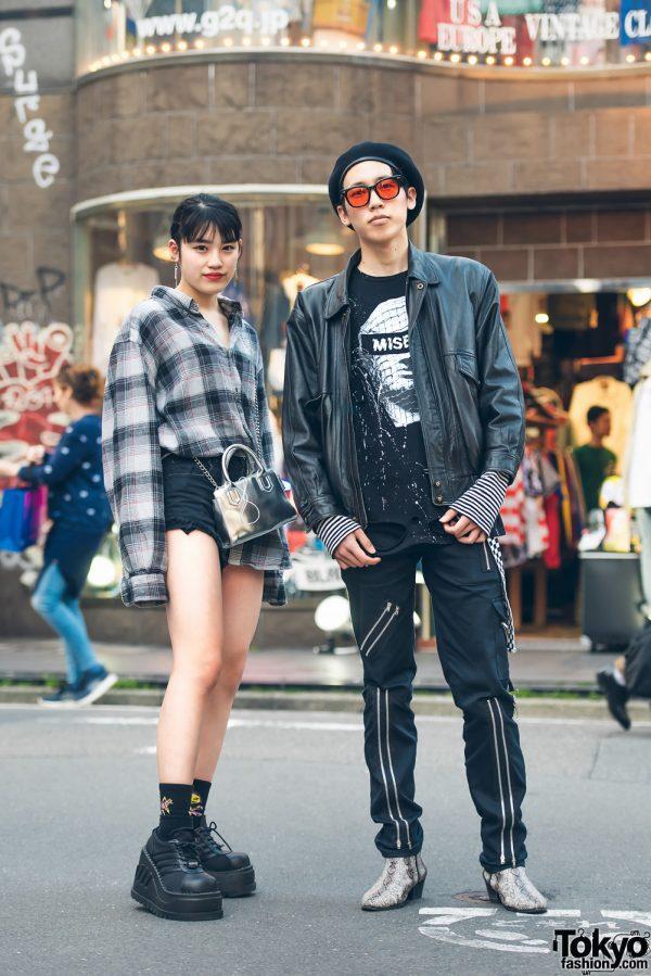 Harajuku Duo in All Black Streetwear Looks w/ MISBHV, Tiger of London, Dog Osaka, Demonia & Forever21