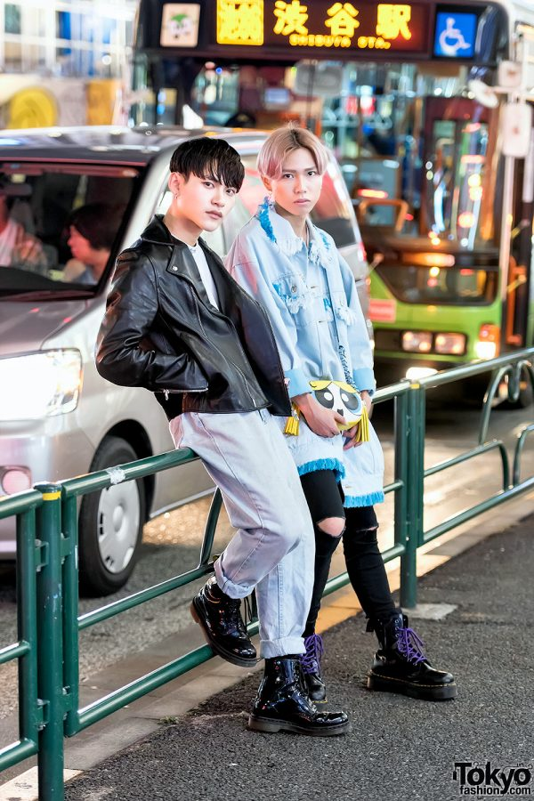 Harajuku Guys' Street Styles w/ Acne Studios, Little Sunny Bite, Denim, Powerpuff Girls & Dr. Martens