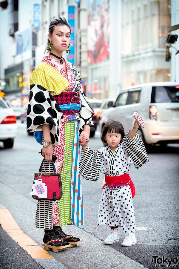 Handmade Mother & Daughter Kimono & The Ivy Tokyo Accessories in Harajuku