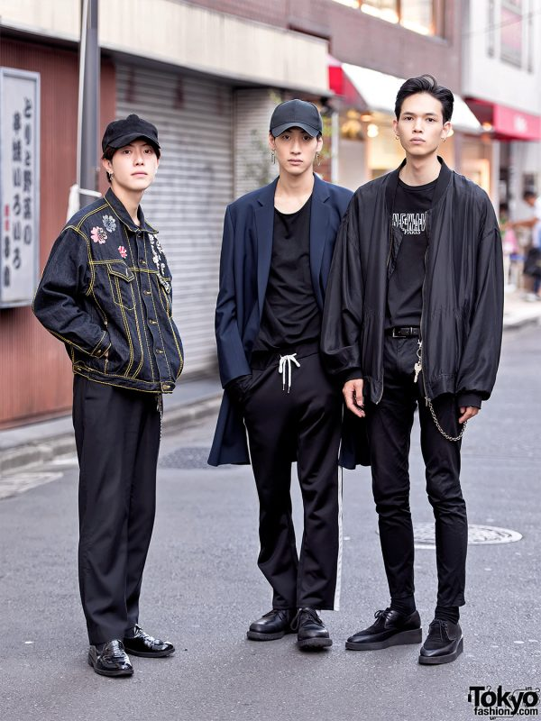 Harajuku Male Models Wearing Lad Musician, Dior Homme, and Vintage Fashion