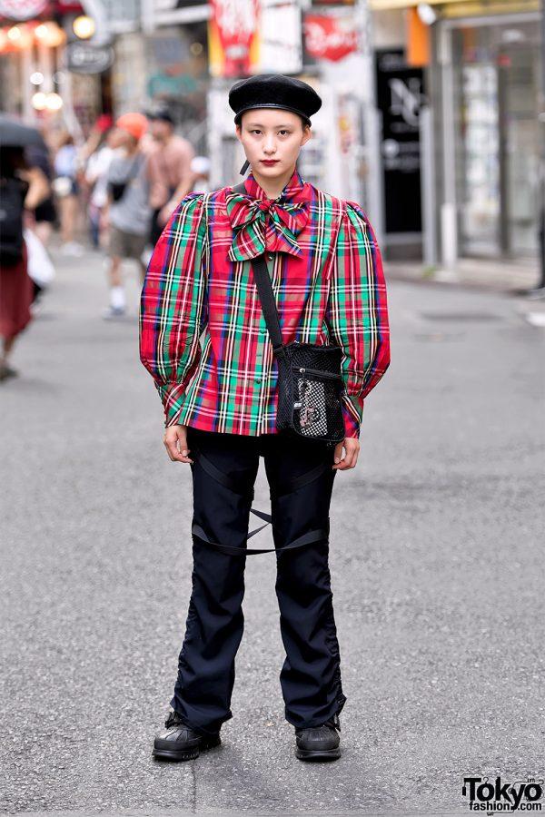 Plaid Harajuku Street Style w/ Mare Osaka, Junya Watanabe, Funktique Tokyo & The Four-Eyed
