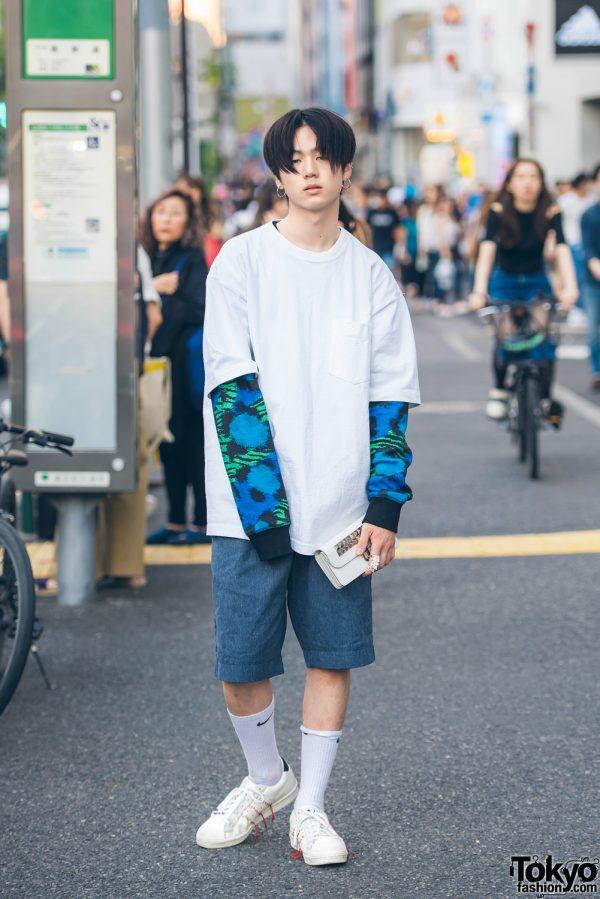 Harajuku Fashion Model in Kenzo x H&M, Comme des Garcons, Y's & Vivienne Westwood