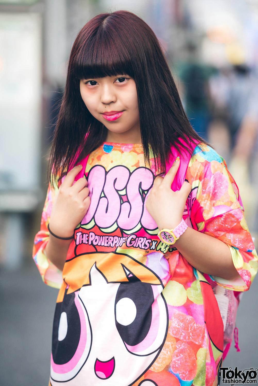 Kawaii Street Style W Powerpuff Girls X Acdc Rag